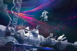 artwork astronaut space space art