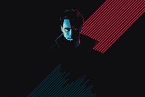 artwork black background terminator cyborg movies