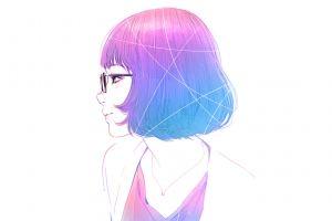 artwork blue drawing ilya kuvshinov anime girls digital art pink