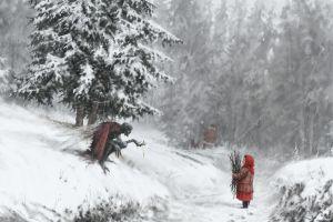artwork creature digital snow winter