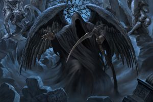 artwork dark fantasy fantasy art grim reaper