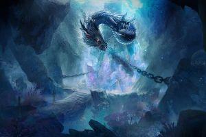 artwork dragon creature fantasy art