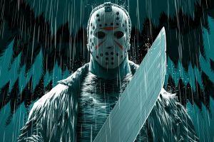 artwork mask comic art horror friday the 13th jason voorhees