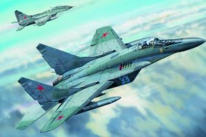 artwork military aircraft mig-29 aircraft