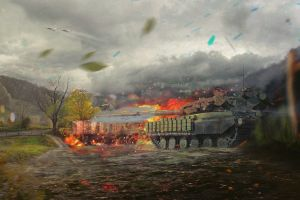artwork military war tank