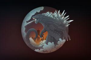 artwork mythka godzilla creature reptile digital art