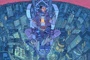 artwork science fiction futuristic