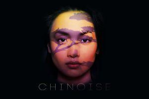 artwork simple background portrait women black background face
