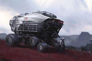 artwork vehicle futuristic