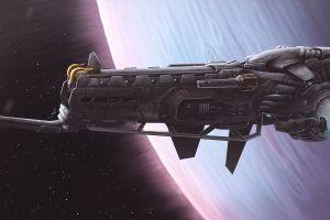 artwork vehicle spaceship science fiction dmitrii ustinov