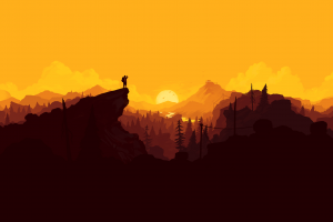 artwork video games freedom olly moss firewatch yellow video game art