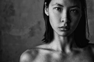 asian aleksey trifonov portrait model monochrome women