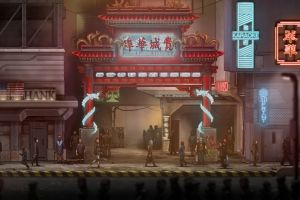 asian architecture rpg chinese characters fantasy art people digital art street video games city neon