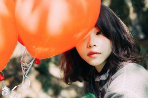asian balloon women women outdoors