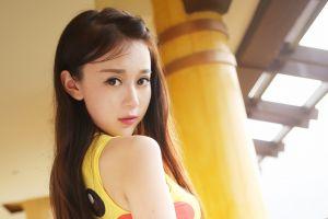 asian face brunette model women portrait photography