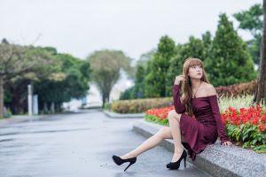 asian women high heels