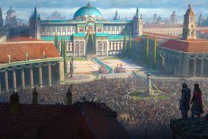 assassin's creed fantasy art palace city artwork ceremony