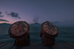 assassin's creed: odyssey assassin's creed odyssey sea side friendship night assassin's creed