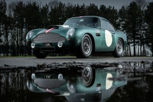 aston martin reflection car front angle view