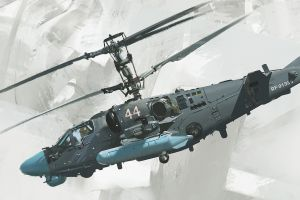 attack helicopters russian army vehicle military military aircraft aircraft white background concept art joe gloria kamov ka-52  helicopter fly