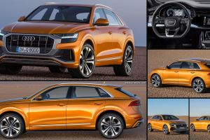 audi q8 2019 car interior car audi collage numbers vehicle