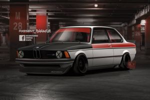 axesent creations digital art bmw 3 bmw m3 e30 front angle view bmw german cars render sports car