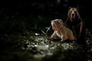 baby bears photo manipulation