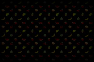bananas lemons pineapple cherries kiwi (fruit) strawberries minimalism fruit watermelons orange (fruit) black background digital art