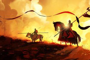 banner knight dominik mayer fantasy art