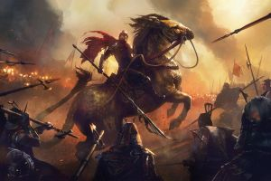 battle artwork horse fantasy art