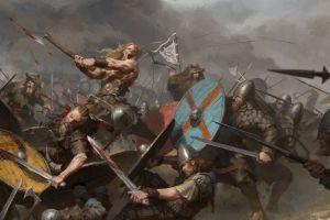 battle fantasy art war vikings warrior