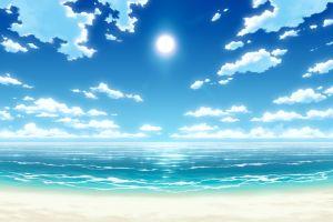 beach sun nature light fairytail sky artwork