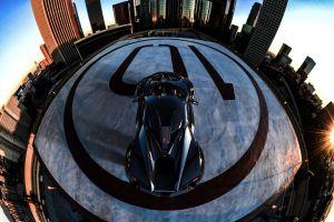 benoit fraylon cityscape vehicle fenyr supersport car fisheye lens