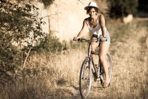 bicycle women outdoors women