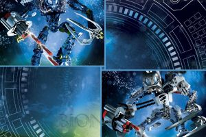 bionicle  collage toa blue