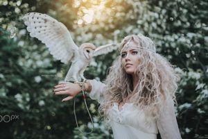 birds women fantasy girl anton harisov blonde 500px