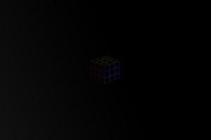 black background minimalism cube photoshop