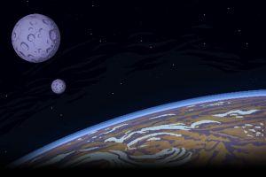 black background pixels earth pixel art pixelated stars moon universe digital art space planet