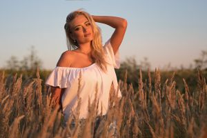 blonde dmitry sn bare shoulders portrait smiling women