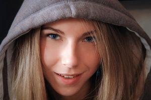 blonde smiling blue eyes hoods looking at viewer krystal boyd pornstar women