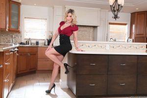 blonde women kitchen pornstar cory chase