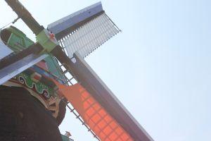 blue dutch dutch netherlands zaanse schans windmill