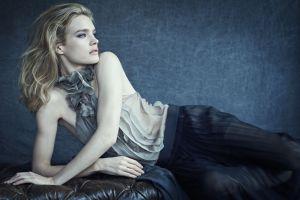 blue eyes women model natalia vodianova simple background russian women