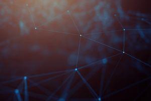 blue lines digital art cyberspace geometry abstract
