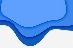 blue minimalism white abstract shapes