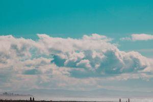 blue turquise sky clouds landscape summer