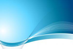 blue waveforms abstract digital art
