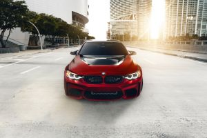 bmw car red cars vehicle