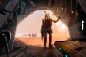 boba fett artwork bounty hunter star wars star wars villains