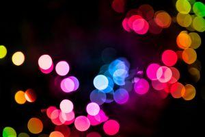bokeh lights blurred colorful